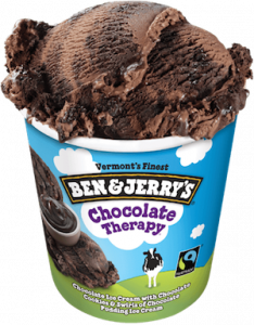eating ben and Jerrys ice cream