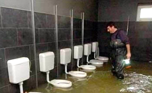 toilets overflowing
